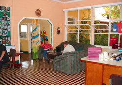 Spanish language school lounge in Heredia