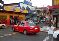 Driving while studying spanish in Heredia